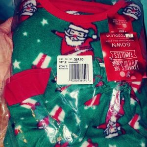 Christmas gown w/ matching doll gown 3t NWT